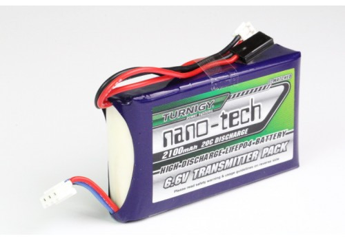 Turnigy nano-tech 2100mAh 2S1P 20C LiFePo4 (Futaba T14SG & 4PK)
