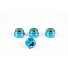 Гайки синие М4 (анодированный алюминий)