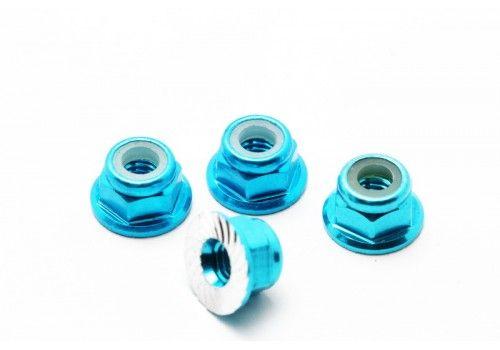 Гайки для крепления дисков 4шт (синие) (М4)