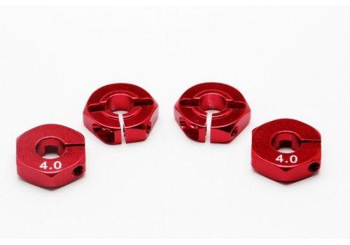 Адаптер колесный красный 4мм (Хаб)