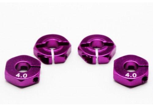 Адаптер колесный фиолетовый 4мм (Хаб)