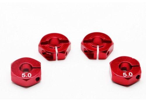 Адаптер колесный красный 5мм (Хаб)