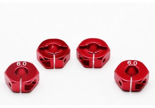 Адаптер колесный красный 6мм (Хаб)