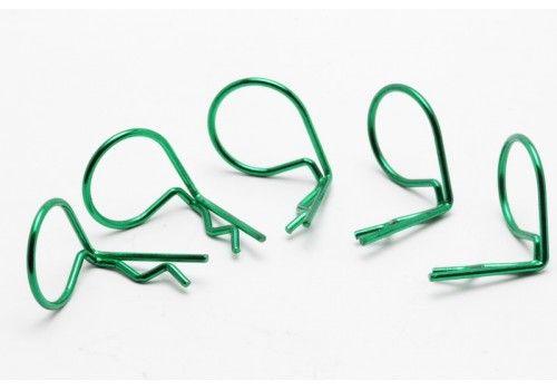 Клипсы большие зеленые 90°