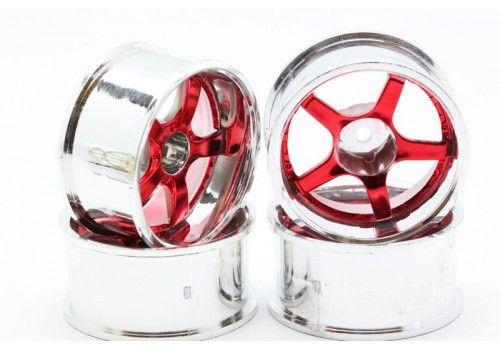 Диски HPI - 5 лучей красный/хром