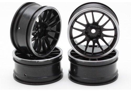 Диски - 14 лучей черный/серый