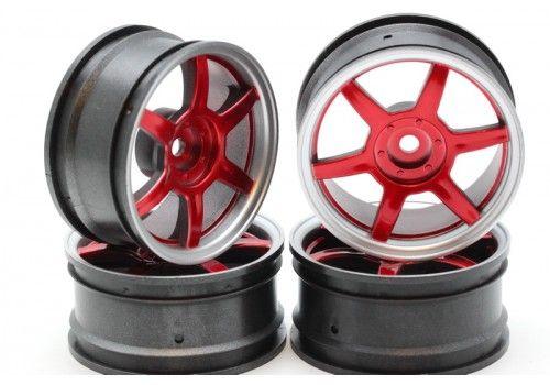 Диски - 6 лучей красный/серый