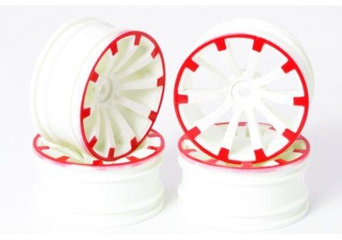 Диски 10 лучей белый/красный