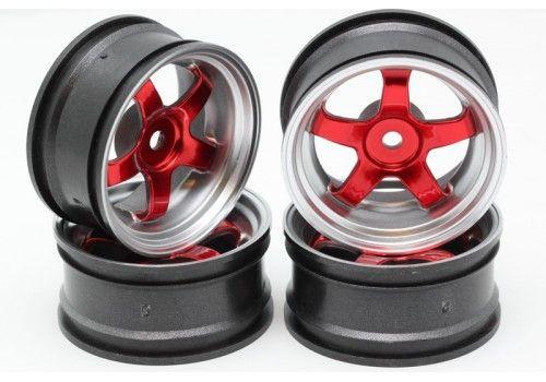 Диски HPI - 5 лучей красный/серый
