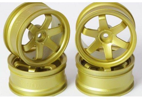 Диски 6 лучей золотые (вылет 3 мм)
