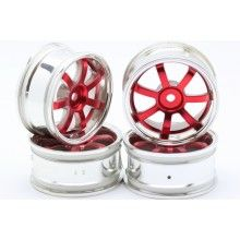Диски HPI - 7 лучей красный/хром