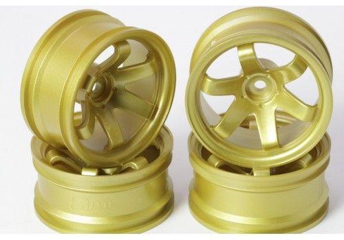 Диски 6 лучей золотые (вылет 9 мм)