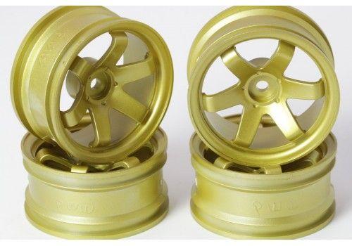Диски 6 лучей золотые (вылет 6 мм)