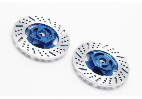 Тормозные диски металлические синие