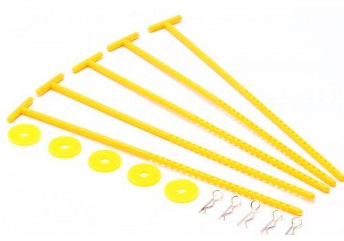 Крепления для хранения дисков желтый