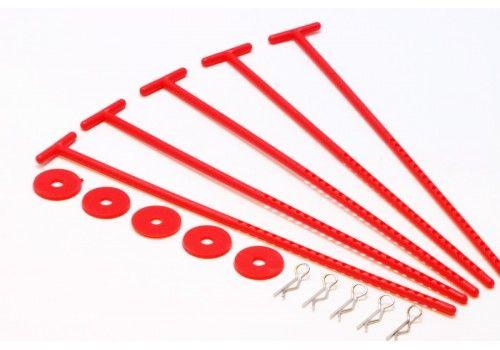 Крепления для хранения дисков красный