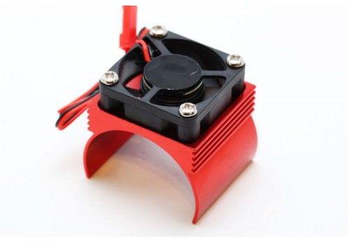 Радиатор охлаждения красный с вентилятором