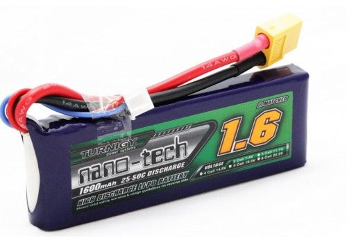 Turnigy nano-tech 1600mah 2S 25~50C