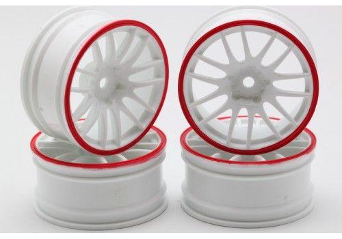 Диски - 14 лучей белый/красный