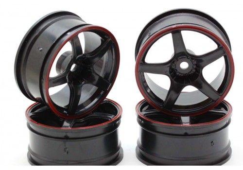Диски  - 5 лучей черный/красный