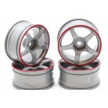 Диски  - 5 лучей серый/красный