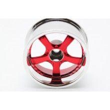 Диски  - 5 лучей красный/хром (2шт)