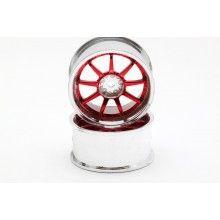 Диски  - 10 лучей красный/хром (2шт)