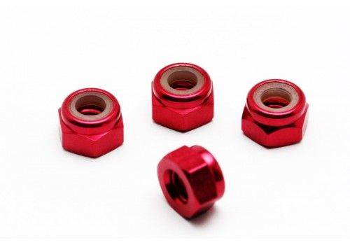 Гайки красные М4 (анодированный алюминий)